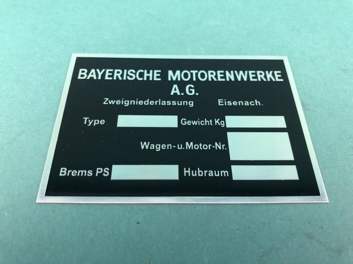 Typenschild BMW 303 309 315