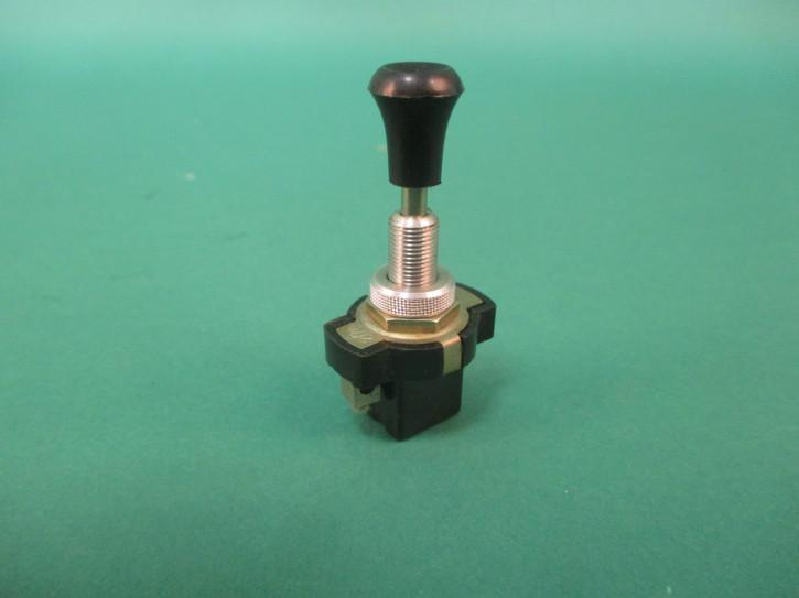 Schalter Knopf schwarz Gewinde lang