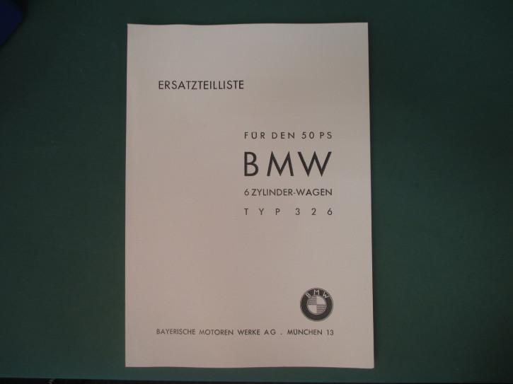 Ersatzteilkatalog BMW 326 DIN A4